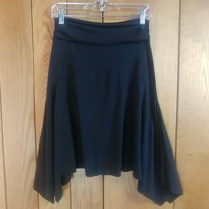 Rue21 Black Asymmetric Rouched Easy Midi Skirt S